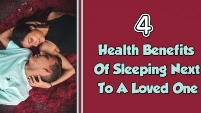 health benefits of sleeping next to a loved one