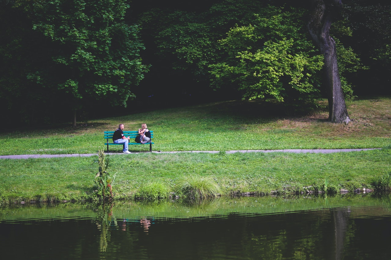 two people at the park