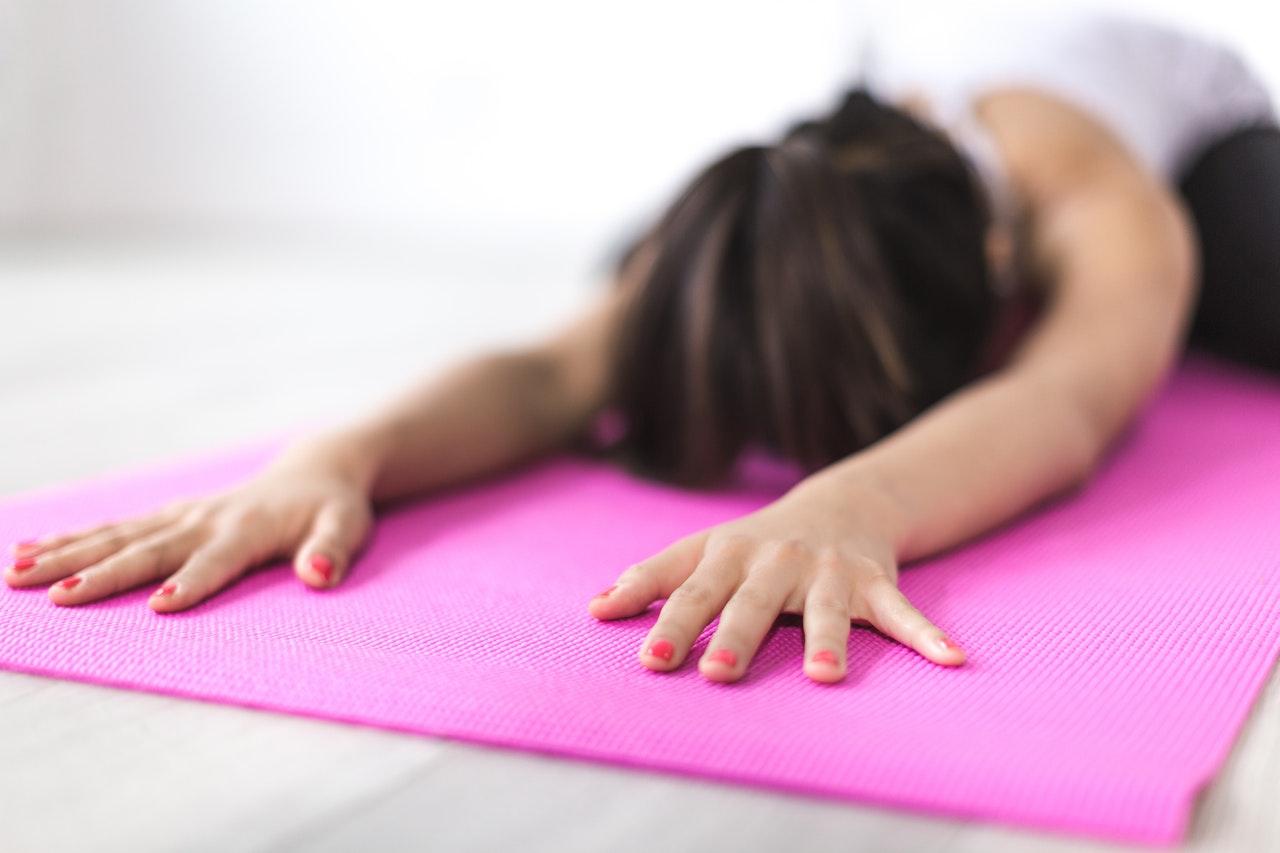 fitness girl meditating