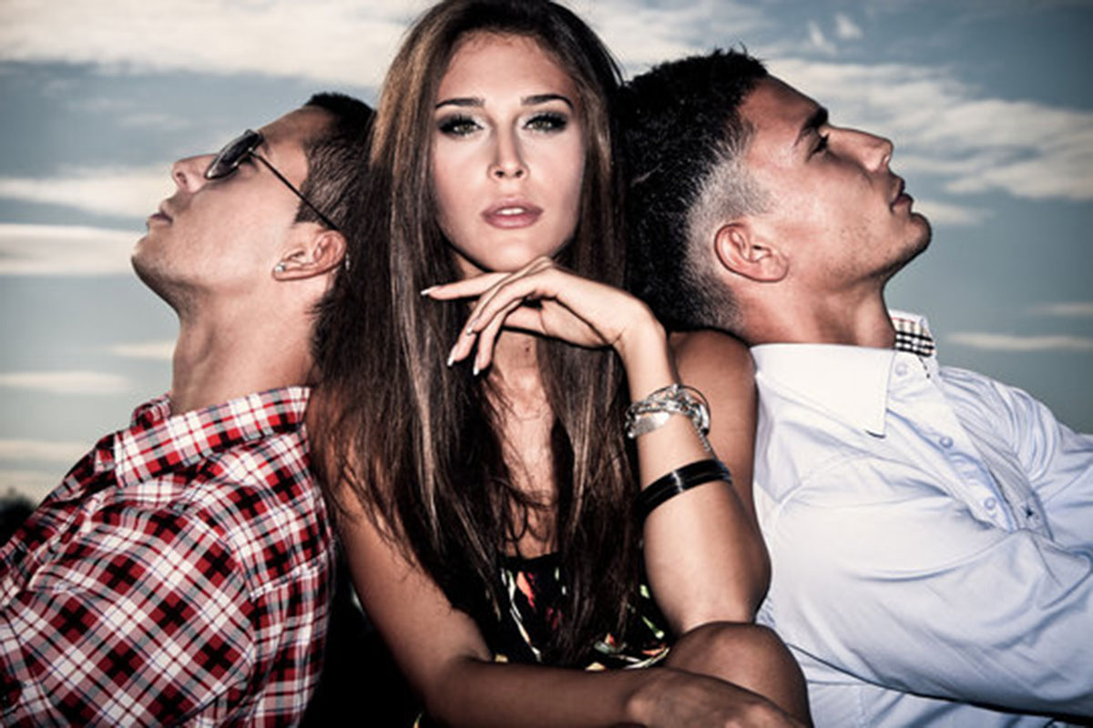 girl with two men