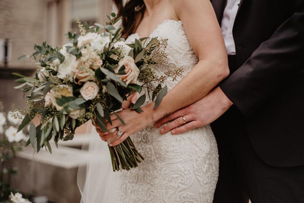 married wedding bouquet